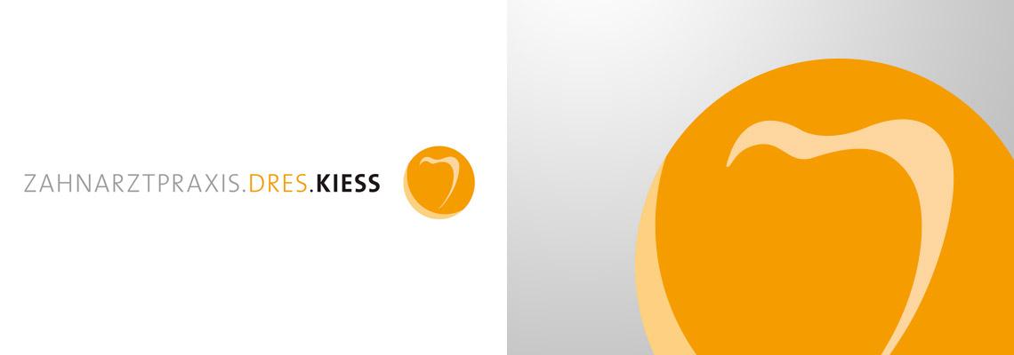 DRES Kiess Zahnärzte Logogestaltung