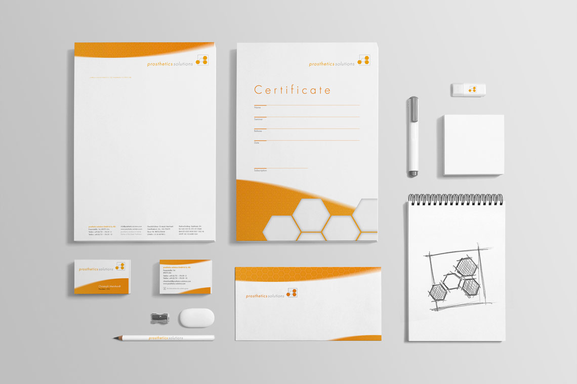 Prosthetics Solutions Corporate Design