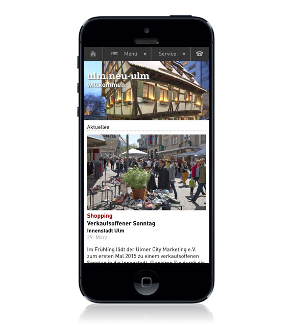 UNT – Tourismuszentrale Ulm Website