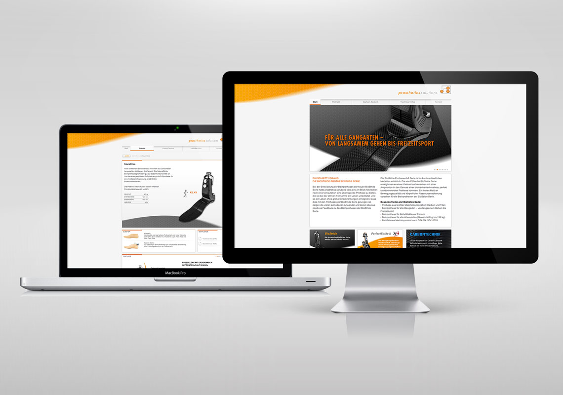 Prosthetics Solutions Website