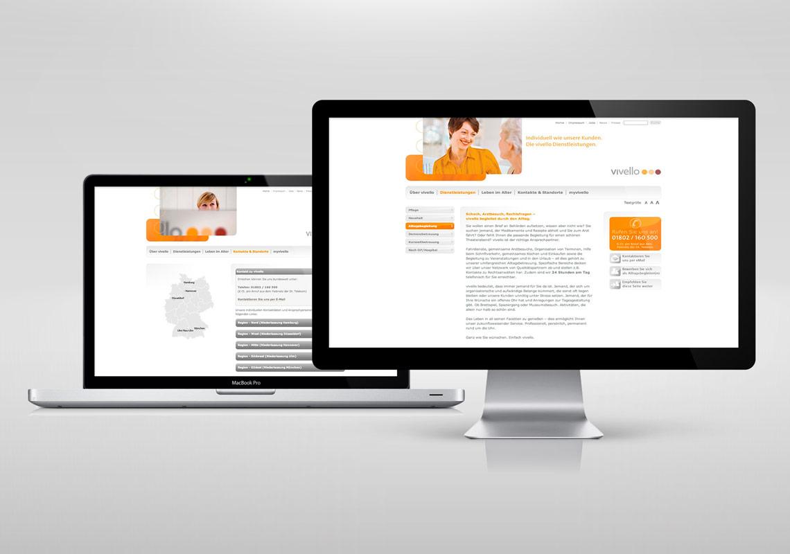 Vivello Kommunikation Website
