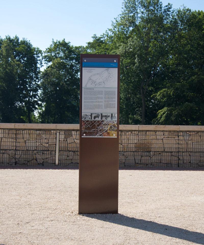 Stadt Neu-Ulm Stadtgeschichten Stele