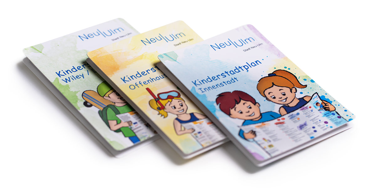 Stadt Neu-Ulm Kinderstadtplan von IKONS